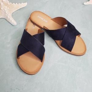 NEW Soda Navy Blue Criss Cross Sandal